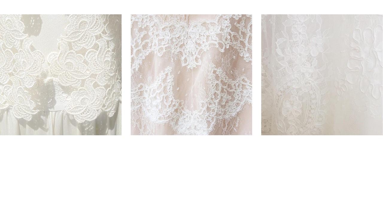 Détails robe de mariée dentelle